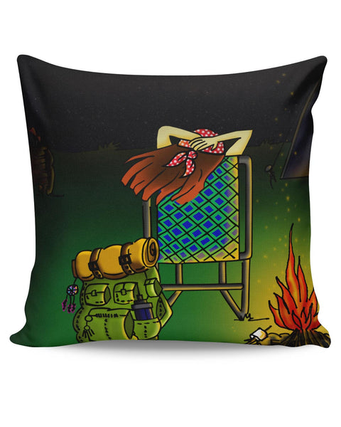 PosterGuy | Bonfire Night Adventure Cushion Cover Online India