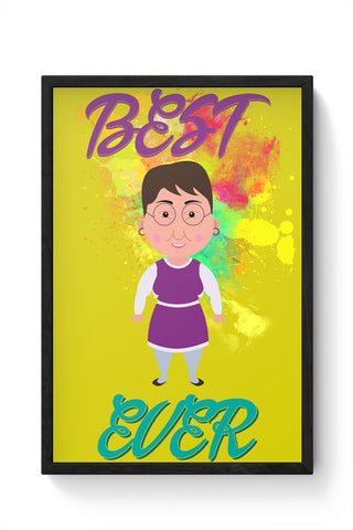 Mom Best Graphic Framed Poster Online India