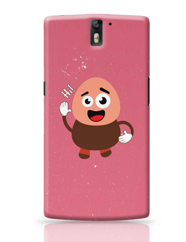Boy Saying Hi Cartoon OnePlus One Covers Cases Online India