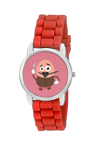 Kids Wrist Watch India | Boy Saying Hi Cartoon Kids Wrist Watch Online India