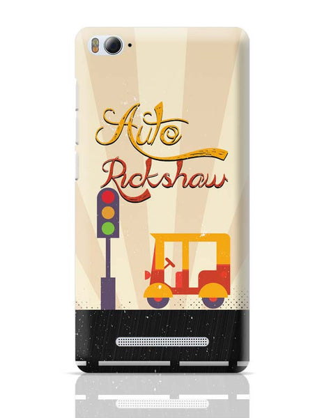 Auto Rickshaw Yellow Xiaomi Mi 4i Covers Cases Online India