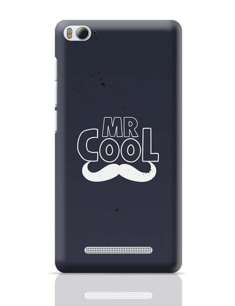 Black And White Mr Cool Moustache Xiaomi Mi 4i Covers Cases Online India