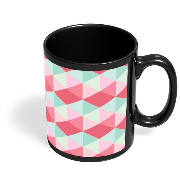 Checkered Tile Pattern Black Coffee Mug Online India