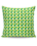 Green triangles and diamonds Cushion Cover Online India