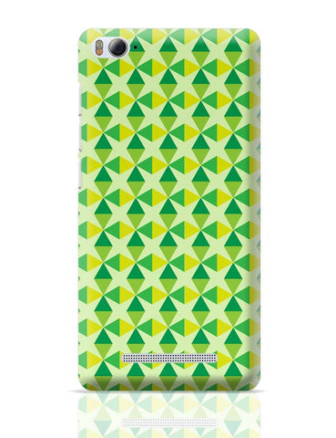 Green triangles and diamonds Xiaomi Mi 4i Covers Cases Online India