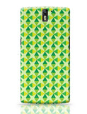 Green triangles and diamonds OnePlus One Covers Cases Online India