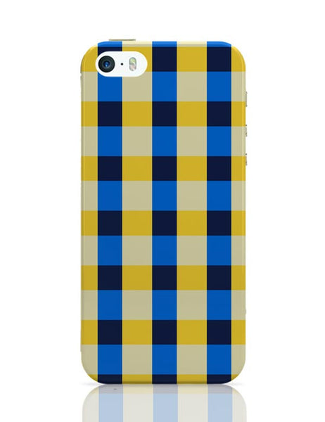 Dark blue square tile pattern iPhone Covers Cases Online India