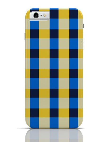 Dark blue square tile pattern iPhone 6 6S Covers Cases Online India