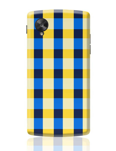 Dark blue square tile pattern Google Nexus 5 Covers Cases Online India