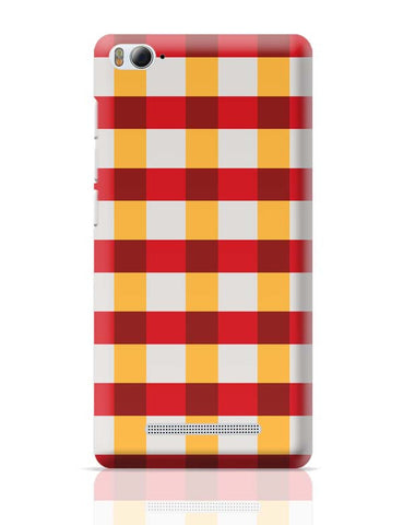 Red square tile pattern Xiaomi Mi 4i Covers Cases Online India