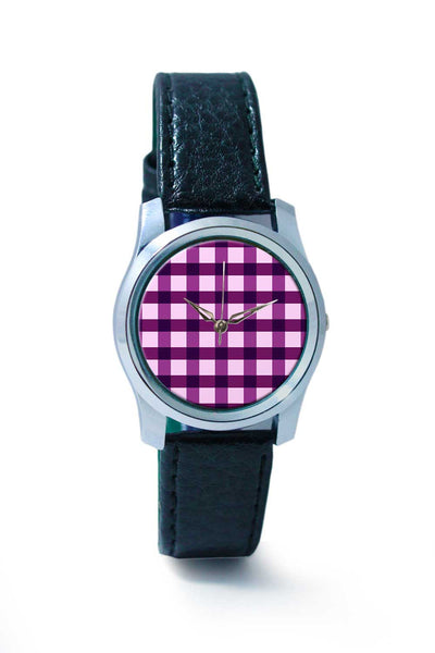Women Wrist Watch India | Purple square tile pattern Wrist Watch Online India