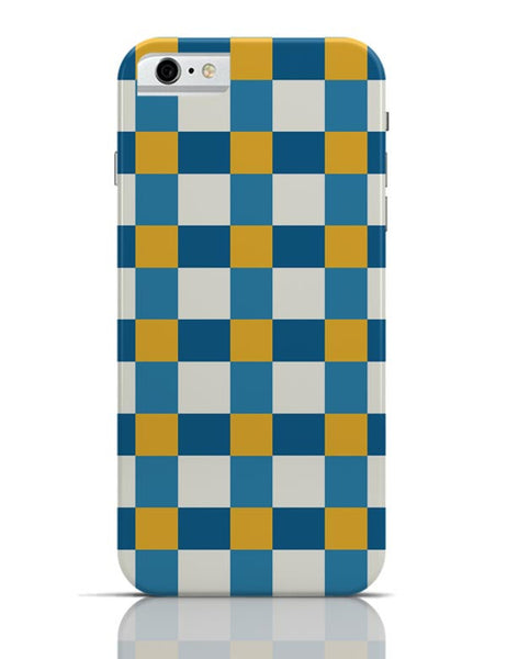 Blue square tile pattern iPhone 6 6S Covers Cases Online India