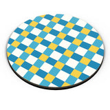 Blue square tile pattern Fridge Magnet Online India