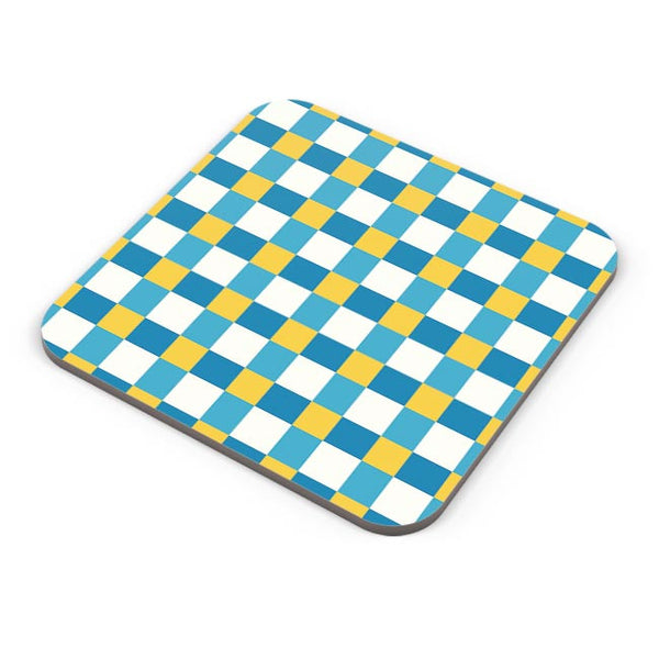 Blue square tile pattern Coaster Online India