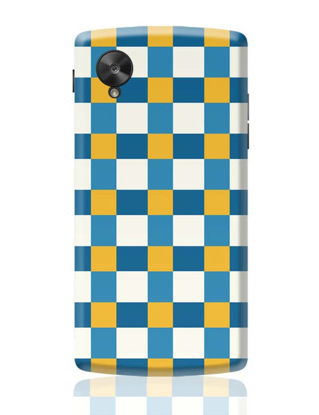 Blue square tile pattern Google Nexus 5 Covers Cases Online India