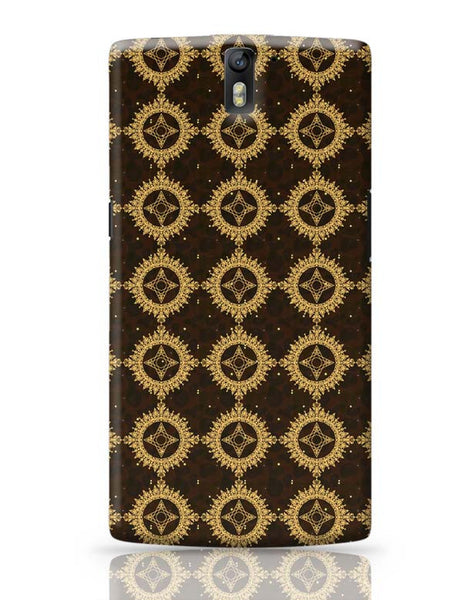 Golden floral vector OnePlus One Covers Cases Online India