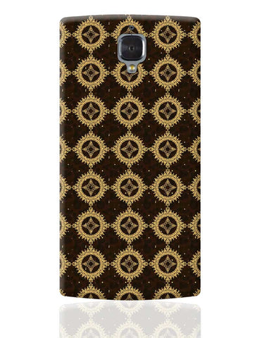 Golden floral vector OnePlus 3 Cover Online India