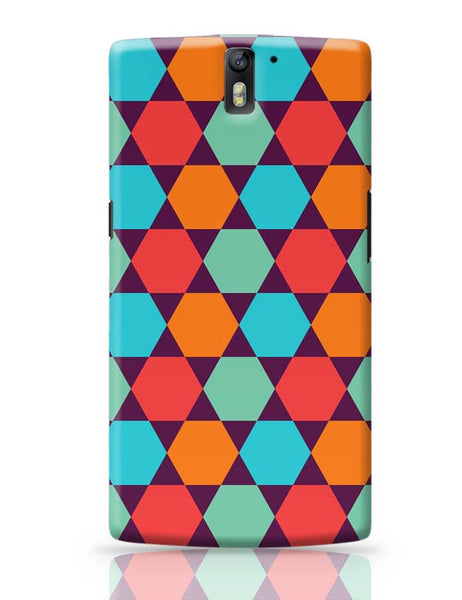 Hexagonal shapes pattern OnePlus One Covers Cases Online India