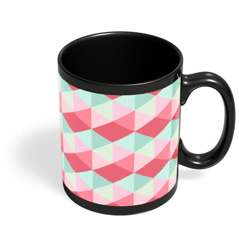 3d cube geometric pattern Black Coffee Mug Online India