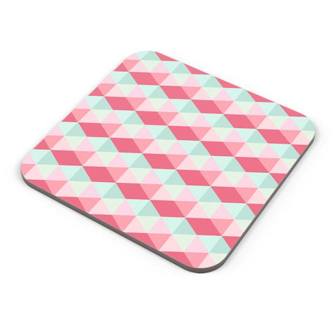 3d cube geometric pattern Coaster Online India