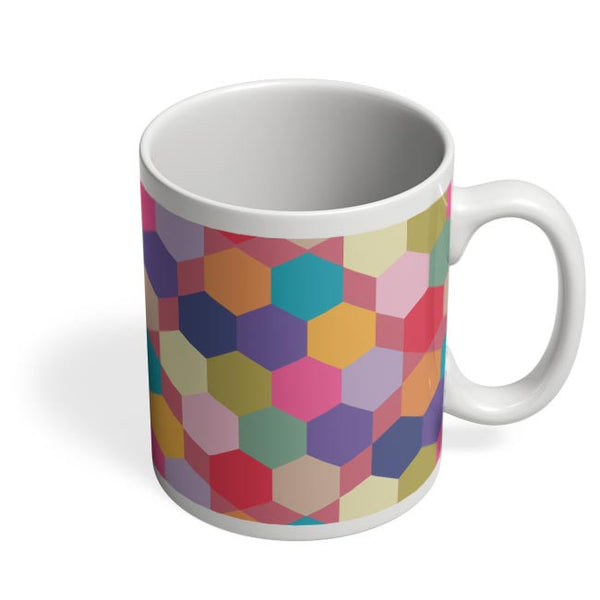 Colorful hex pattern Coffee Mug Online India