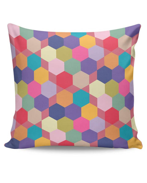 Colorful hex pattern Cushion Cover Online India
