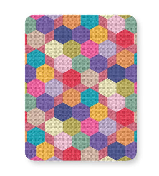 Colorful hex pattern Mousepad Online India