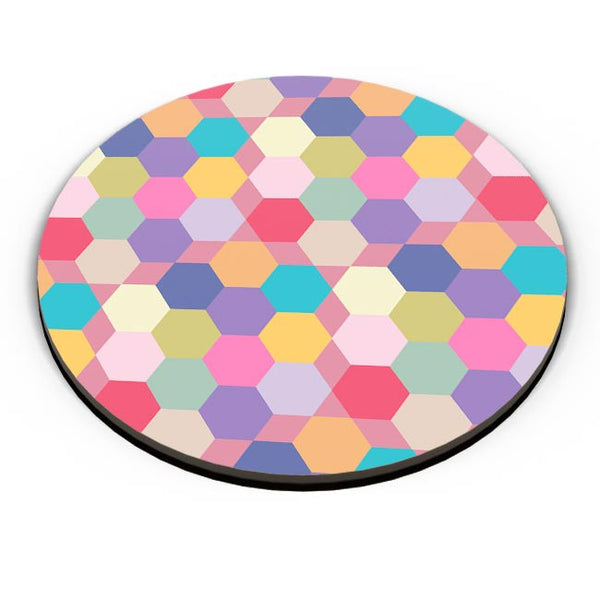 Colorful hex pattern Fridge Magnet Online India