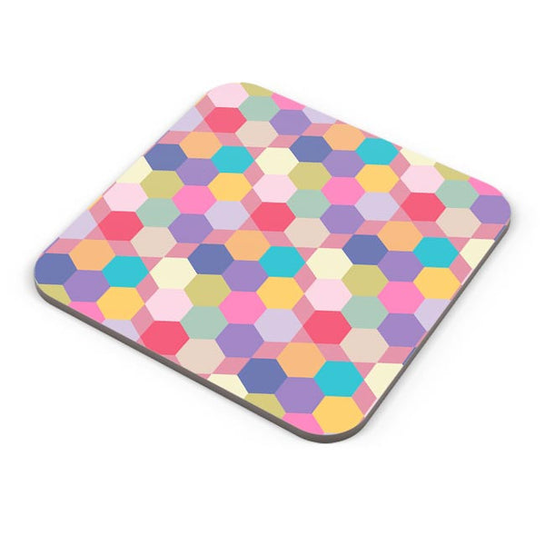 Colorful hex pattern Coaster Online India