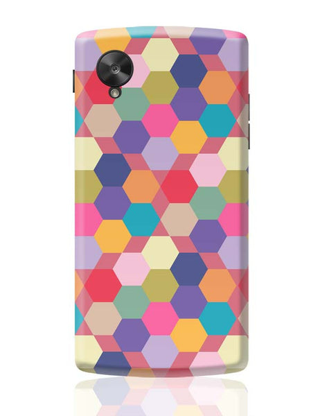 Colorful hex pattern Google Nexus 5 Covers Cases Online India