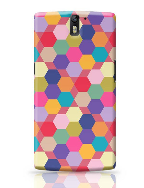Colorful hex pattern OnePlus One Covers Cases Online India
