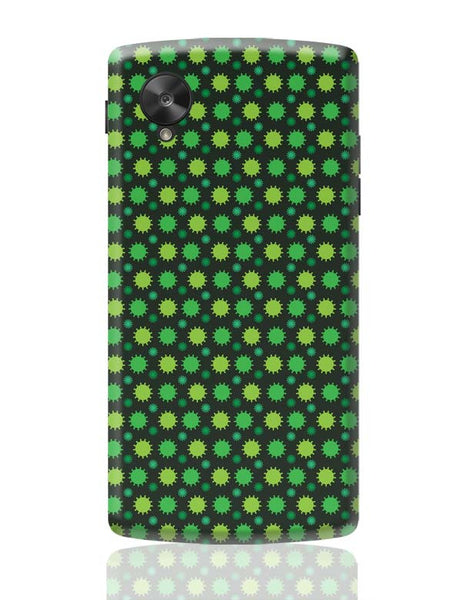 Floral green pattern Google Nexus 5 Covers Cases Online India