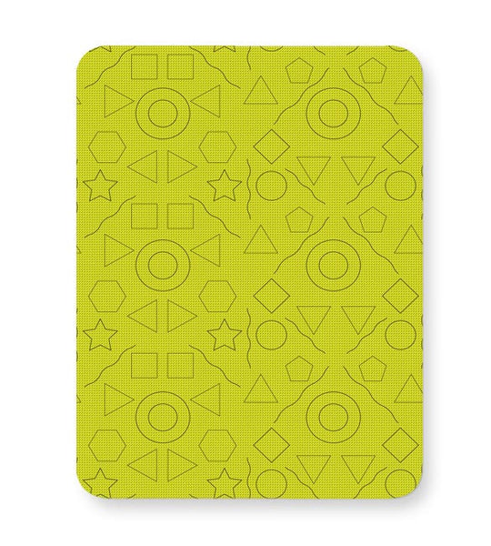 Geometric shapes with yellow backgrond Mousepad Online India