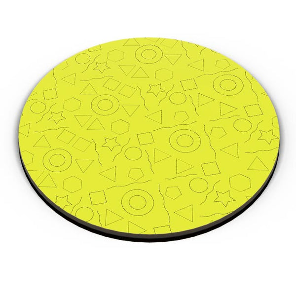 Geometric shapes with yellow backgrond Fridge Magnet Online India