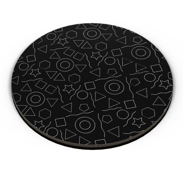 Geometric shapes with black backgrond Fridge Magnet Online India