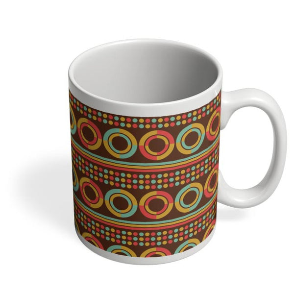 African pattern with geometric shapes Coffee Mug Online India