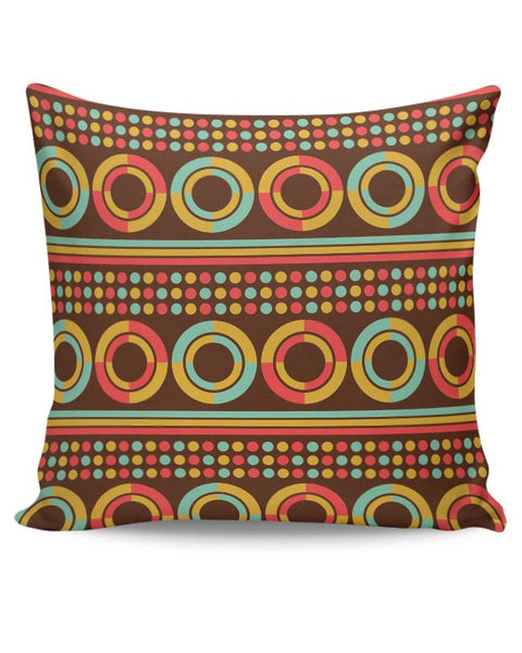 African pattern with geometric shapes Cushion Cover Online India