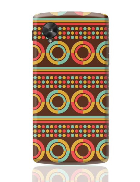 African pattern with geometric shapes Google Nexus 5 Covers Cases Online India