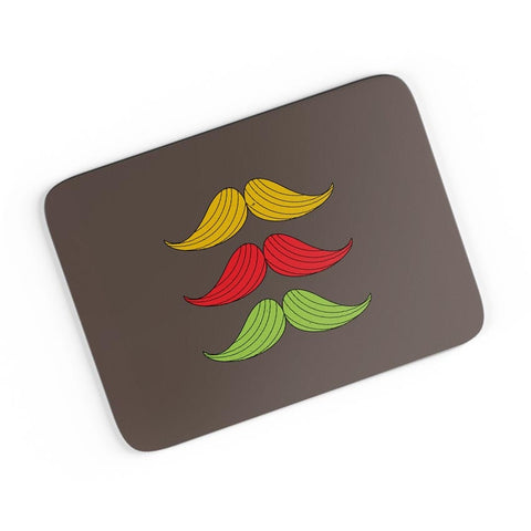 3 Moustache Colorful A4 Mousepad Online India