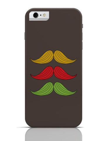 3 Moustache Colorful iPhone 6 6S Covers Cases Online India
