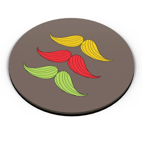 3 Moustache Colorful Fridge Magnet Online India