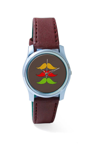 Women Wrist Watch India | 3 Moustache colorful Wrist Watch Online India