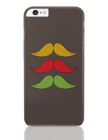 3 Moustache Colorful iPhone 6 Plus / 6S Plus Covers Cases Online India