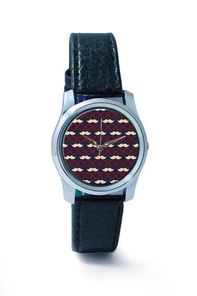 Women Wrist Watch India | Sunglass with moustaches pattern Wrist Watch Online India