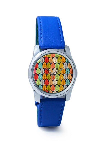 Women Wrist Watch India | Vintage leaves seamless pattern Wrist Watch Online India