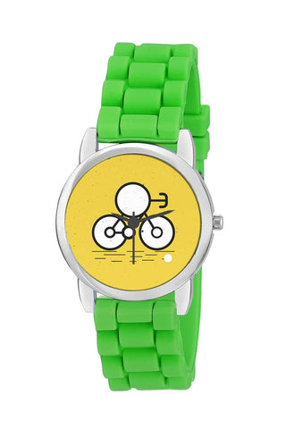 Kids Wrist Watch India | Cartoon Riding Bike Kids Wrist Watch Online India