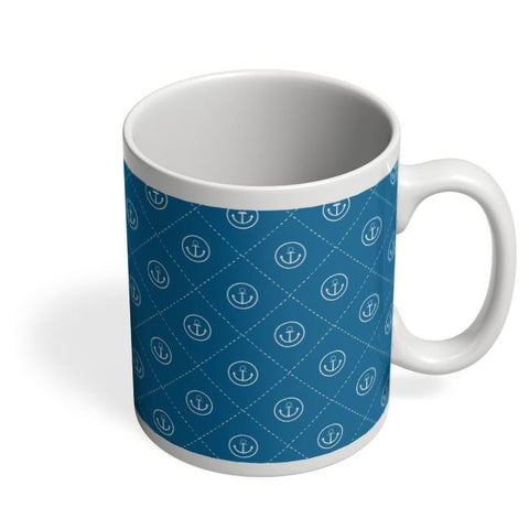 Abstract Anchor on Blue Background Coffee Mug Online India