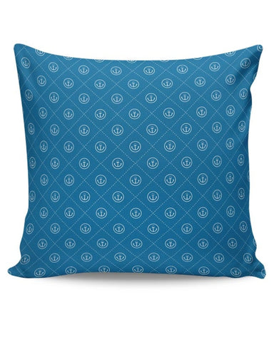 Abstract Anchor on Blue Background Cushion Cover Online India
