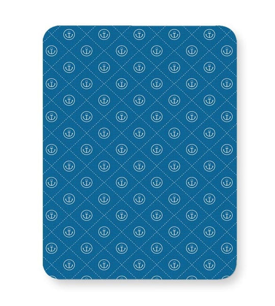Abstract Anchor on Blue Background Mousepad Online India