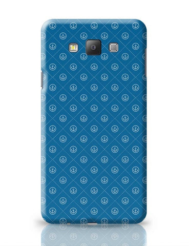 Abstract Anchor on Blue Background Samsung Galaxy A7 Covers Cases Online India